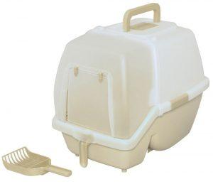 アイリスオーヤマ 掃除のしやすいネコトイレ ミルキーブラウン SSN-530