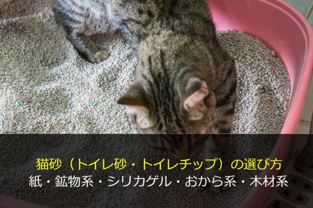猫砂の選び方